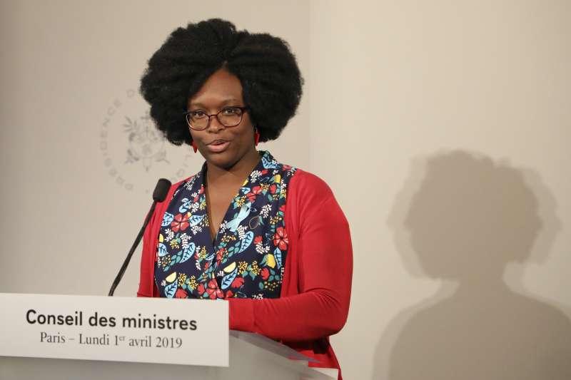 法國政府新任發言人恩迪亞耶(Sibeth Ndiaye)(美聯社)