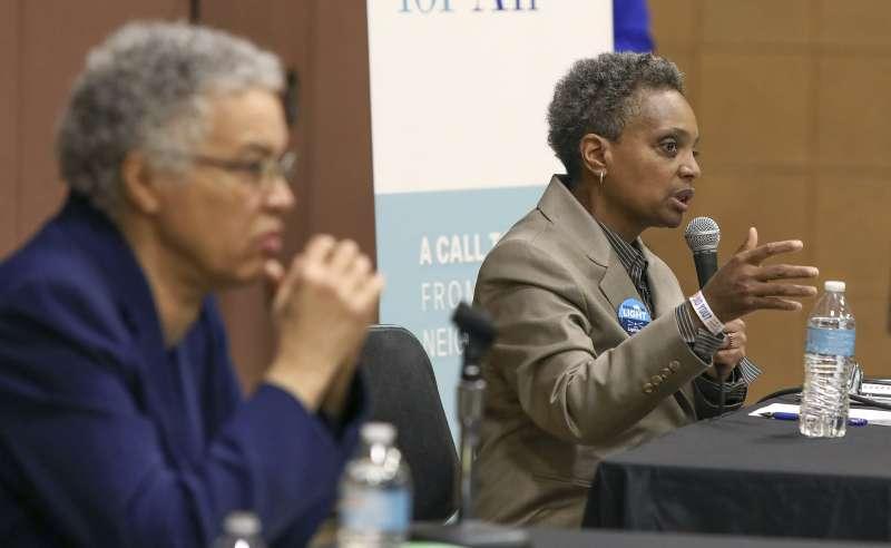 2019年芝加哥市長選舉,第二輪候選人都是非裔女性。(美聯社)