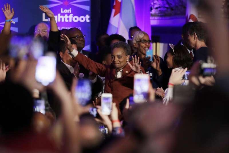 萊特福特勝選成為芝加哥史上第一位非裔女同性戀市長。(美聯社)