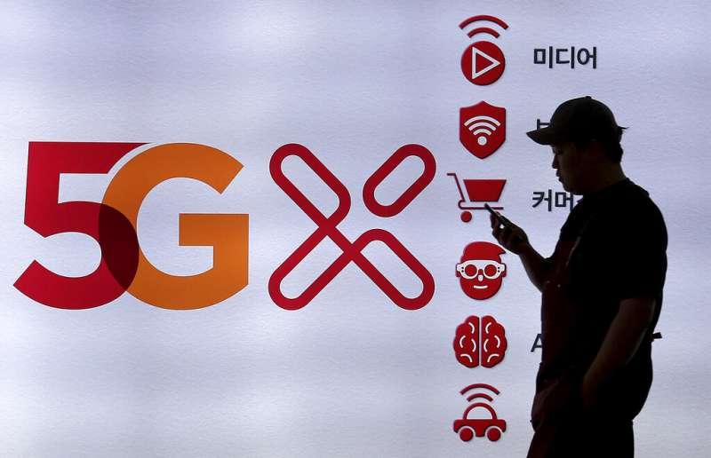 南韓正式開通5G服務,讓民眾可以享受高速行動網路的便利。(美聯社)