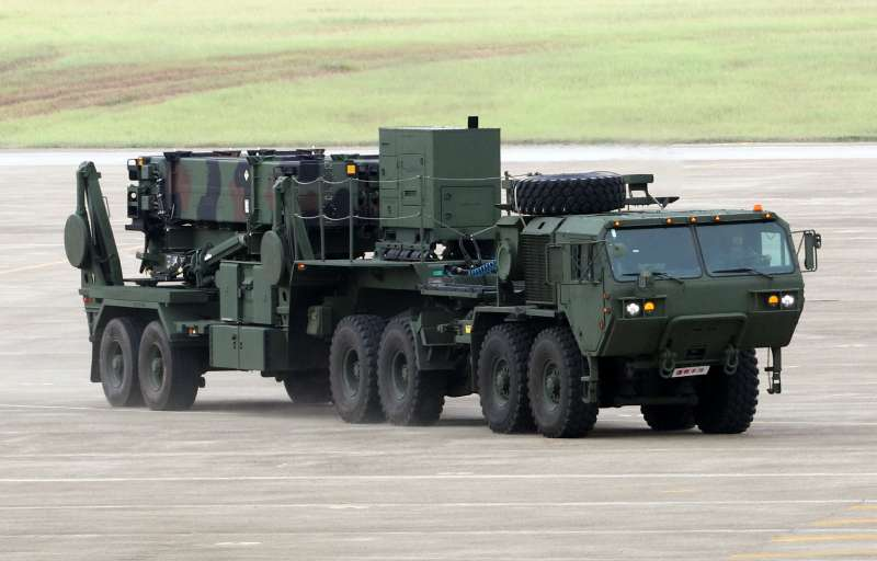 20190408 upload-愛國者防空飛彈是我國高空層防禦的重要武器。圖為愛國者飛彈發射車參與漢光演習。(蘇仲泓攝)