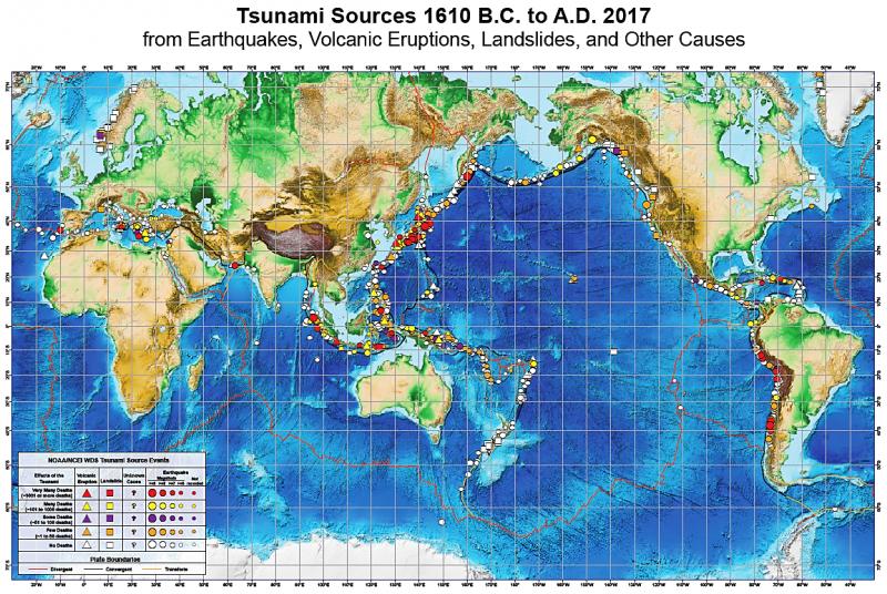 20190408-自西元前1610年至西元後2017年的海嘯來源。(作者提供)