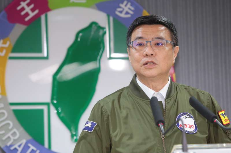 20190409-民進黨主席卓榮泰9日召開記者會,針對黨內總統初選進行說明。(顏麟宇攝)