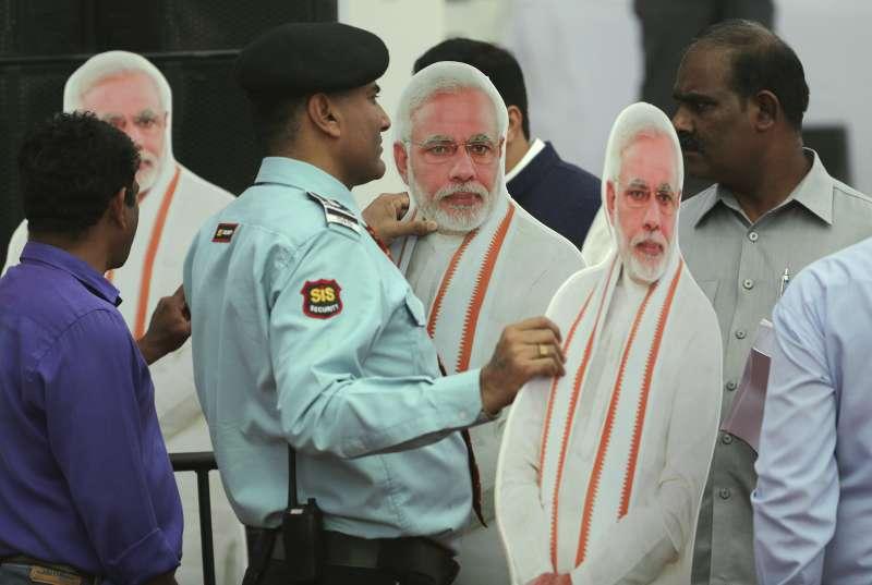 印度大選將於4月11日登場,外界關注總理莫迪能否順利連任。(AP)