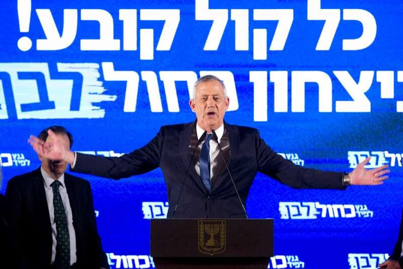 以色列藍白聯盟的甘茨。(美聯社)