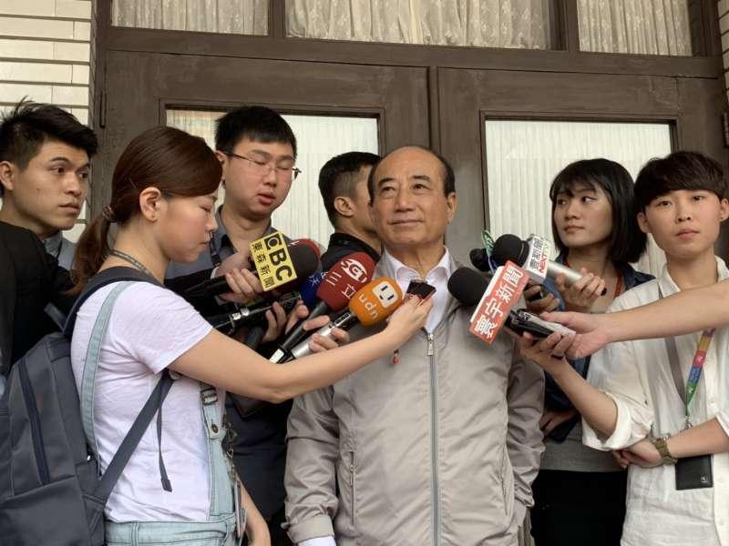 前立法院長王金平回應國民黨黨內初選之爭。(王金平辦公室提供)
