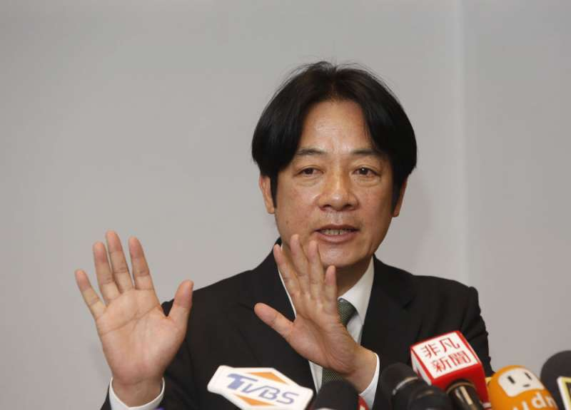 賴清德宣誓要走完初選,無意接受黨內「協調」。(郭晉瑋攝)