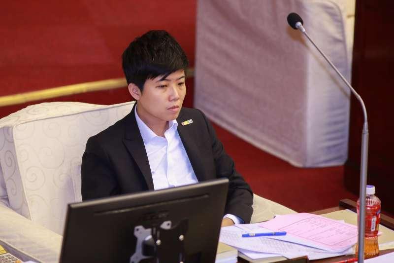20190410-台北市議員苗博雅10日進行質詢。(簡必丞攝)