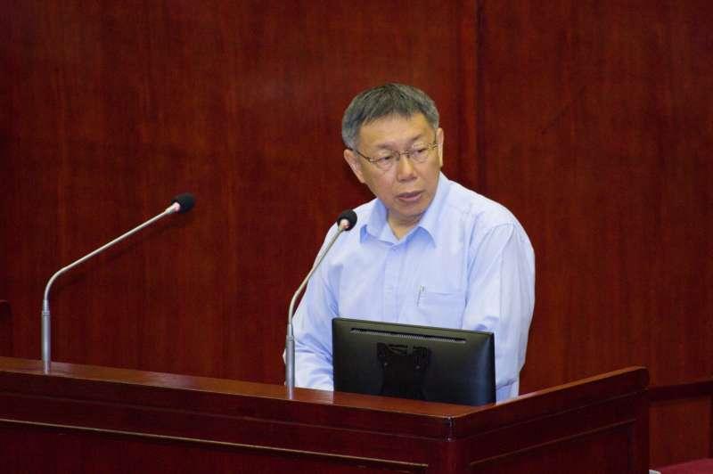 20190411-台北市議會質詢,台北市長柯文哲。(甘岱民攝)