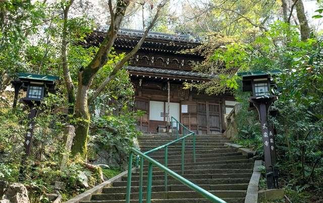 綠意環繞的長樂寺正殿。(圖/潮日本提供)