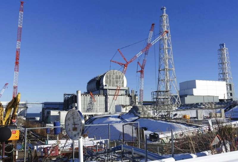 福島第一核電廠三號機組的現況。(美聯社)