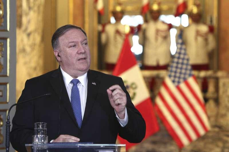 2019年4月,美國國務卿龐畢歐(Mike Pompeo)訪問拉丁美洲(AP)