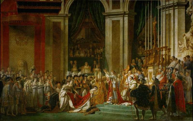 1804年12月2日,拿破崙(Napoleon)在巴黎聖母院加冕。(Wikipedia / Public Domain)