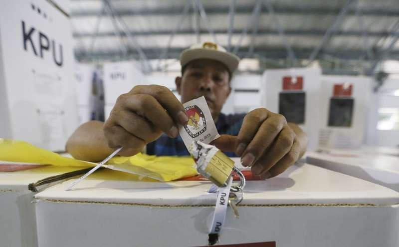 2019年4月17日,印尼舉行總統及國會大選。(AP)