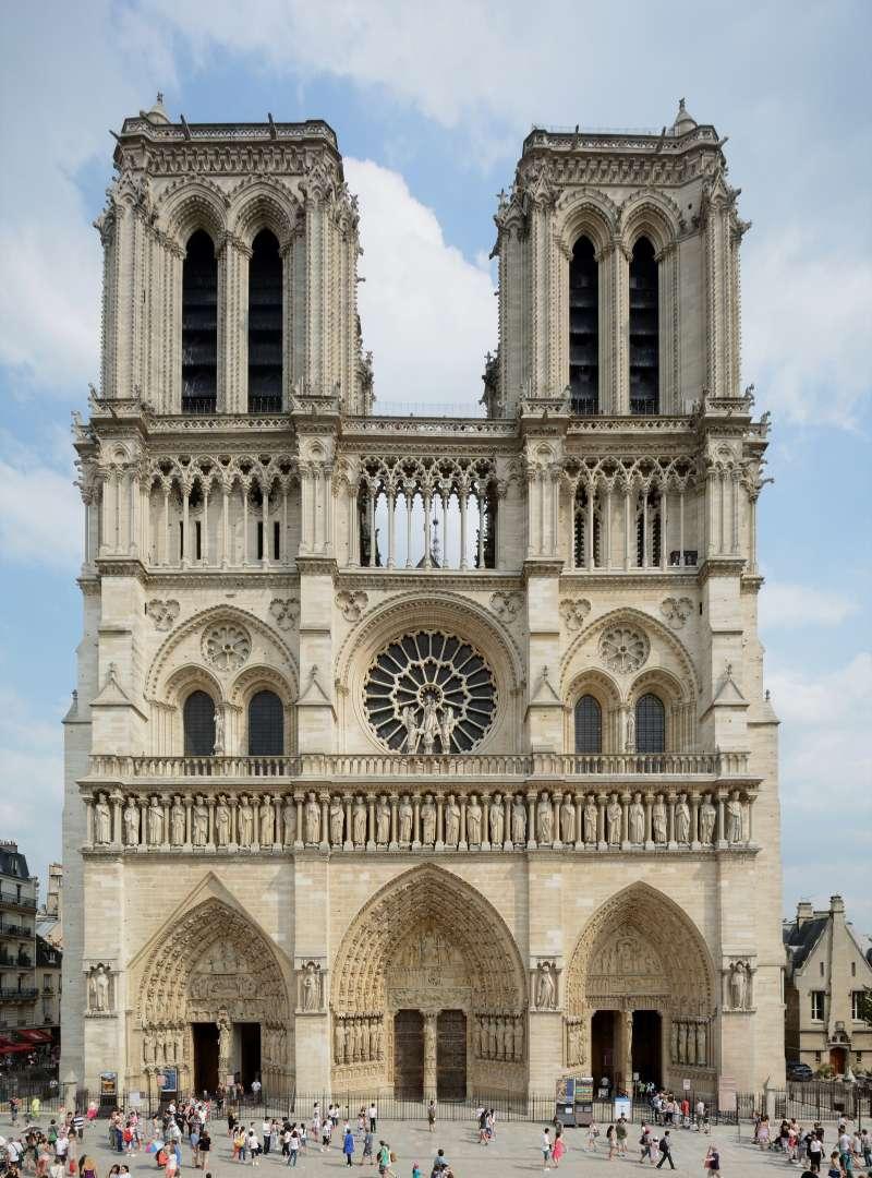 法國「巴黎聖母院」大教堂俯瞰巴黎(P e z i @Wikipedia / CC BY-SA 3.0)
