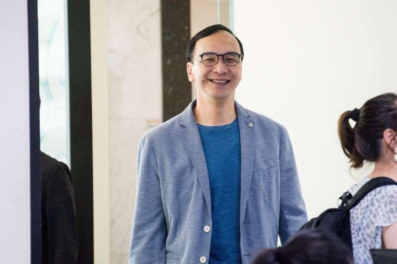 20190418-前新北市長朱立倫出席《POP搶先爆》廣播節目專訪。(甘岱民攝)