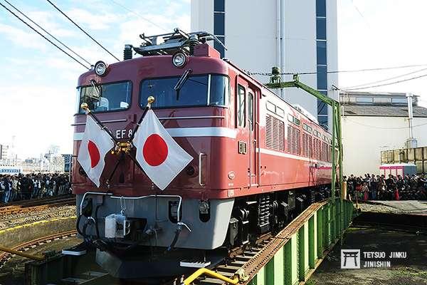 另一輛御召機,JR東日本所屬的EF81 81,也是鐵道迷人氣極高的機關車。(圖/陳威臣攝,想想論壇提供)