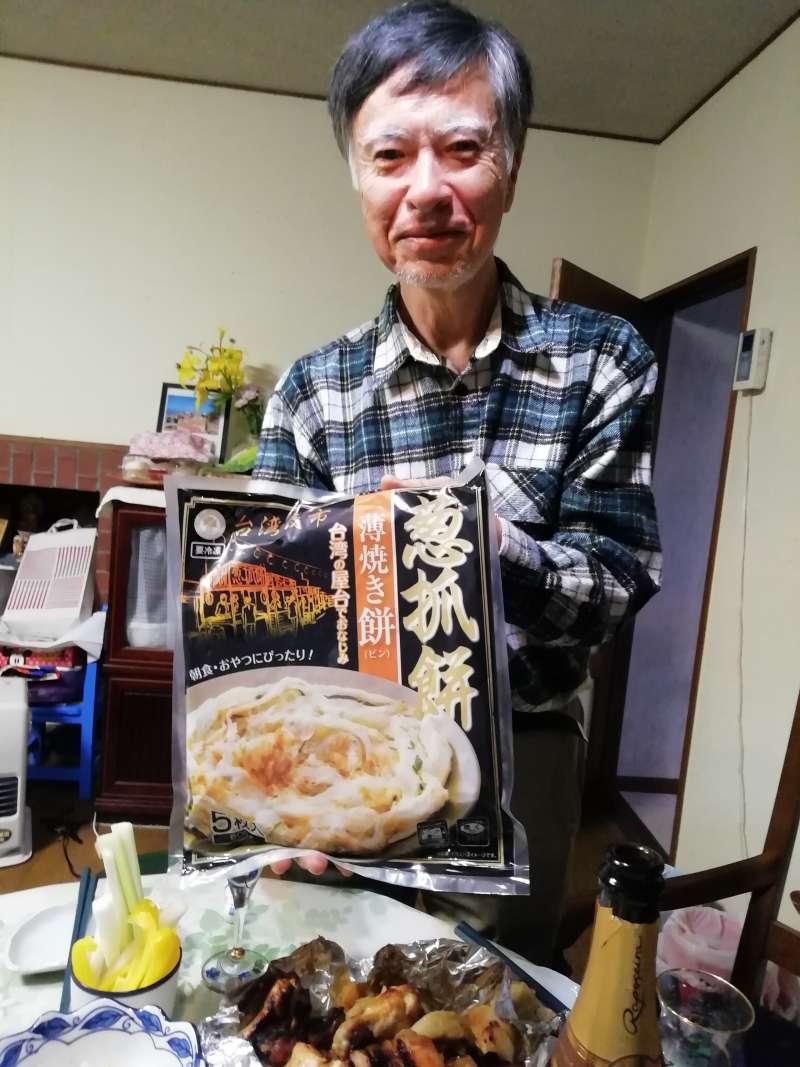 在日本homestay意外吃到名震海外的台灣蔥抓餅。(圖/潘彥瑞攝,想想論壇提供)