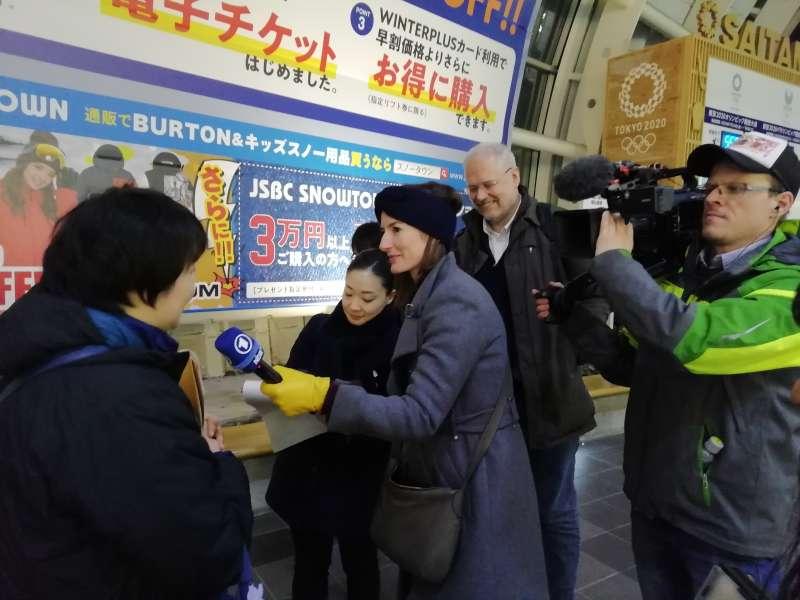 德國電視台訪問主辦單位,老外住日本人家鬧過什麼笑話?(圖/潘彥瑞攝,想想論壇提供)