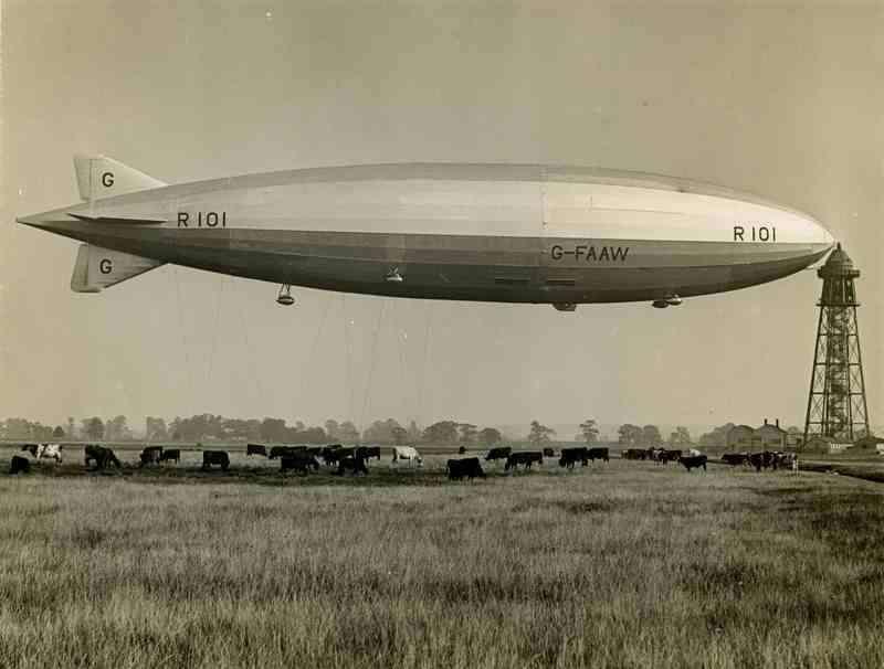 20190418-英國R101飛船檔案照。(賈忠偉提供)