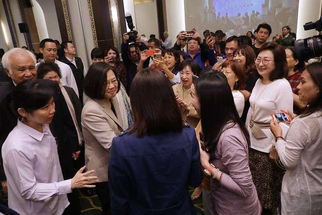 20190418-總統蔡英文今天出席台灣國家聯盟募款餐會。(總統府提供)