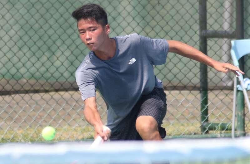 網球比賽於17日率先在陽明網球中心展開團體賽的賽程。(圖/徐炳文攝)