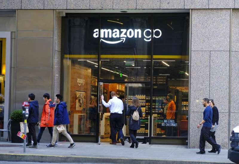亞馬遜的無人商店Amazon Go。(美聯社)