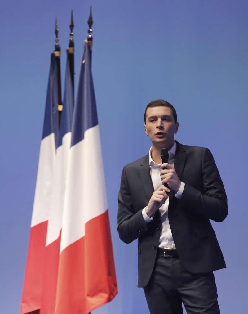 法國極右派政治人物喬丹‧巴爾德拉(Jordan Bardella)。(AP)