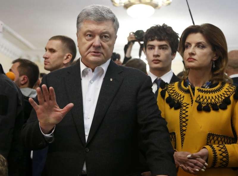 烏克蘭總統大選:現任總統波洛申科。(AP)