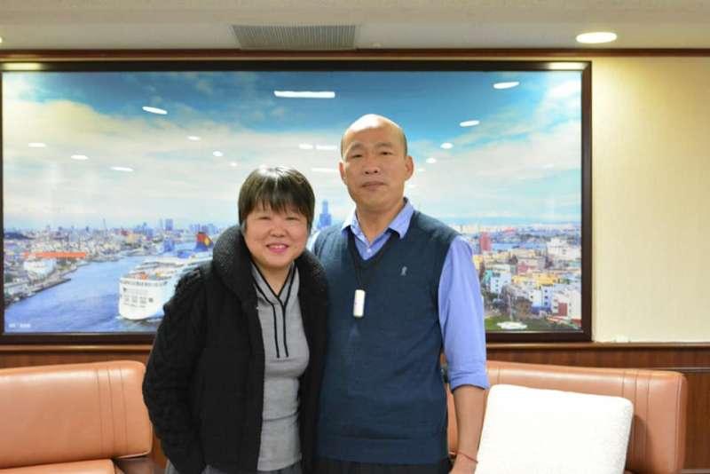 2019-04-23 資深媒體人黃光芹先前專訪韓國瑜但雙方對於參選2020解讀有所出入引起爭議(取自黃光芹臉書)