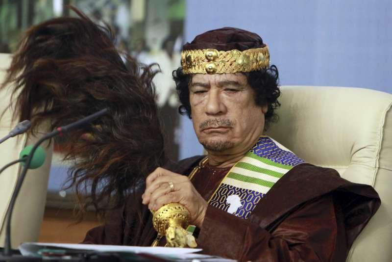 前利比亞獨裁者格達費(Moammar Gadhafi),攝於2010年9月(AP)