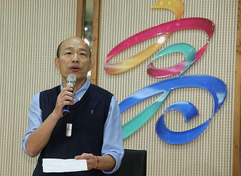 剛當上高雄市長的韓國瑜,有著不能主動喊要選的壓力。(蔡明志攝)