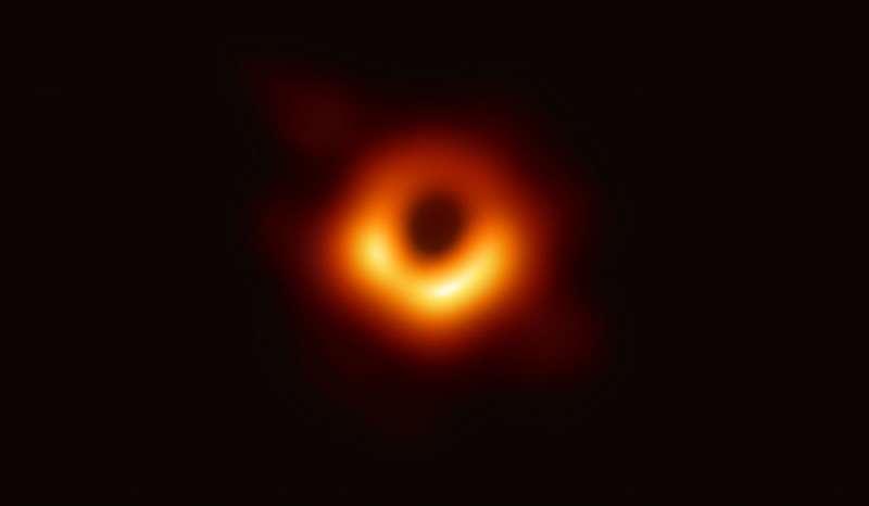 經六國科學家的努力,史上第一張黑洞照片終於呈現在世人眼前。(中研院提供)