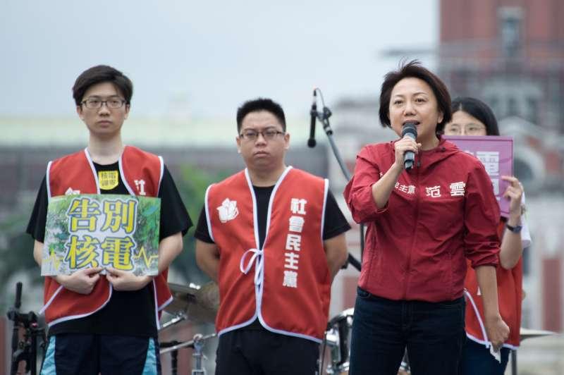 20190427-廢核大遊行,社民黨召集人范雲。(甘岱民攝)