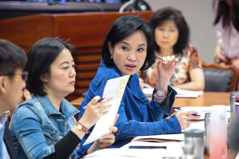 20190429-國民黨立委柯志恩29日出席教育委員會審查教師法。(顏麟宇攝)
