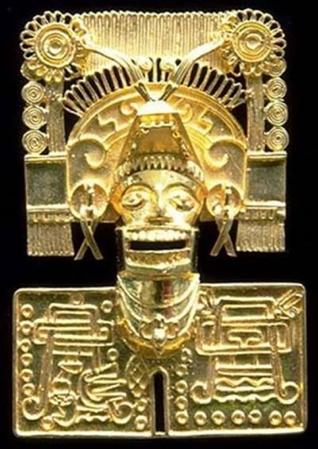 阿茲提克帝國以黃金製成的神像冥界之神 Mictlantecutli。(作者林意凡提供)