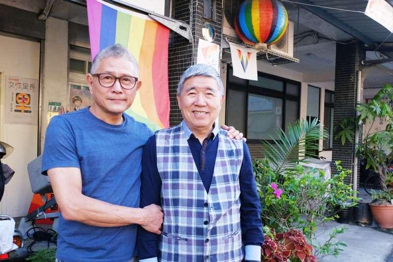 男同志伴侶何祥與王天明(謝孟穎攝)