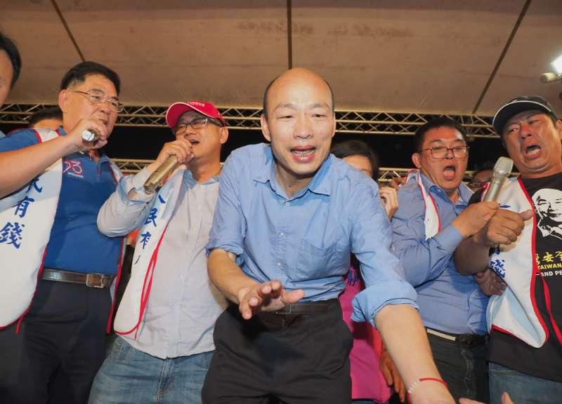 親韓國瑜人士意有所指地表示,感覺市長被「圍」起來了,決策圈愈來愈小。(林瑞慶攝)