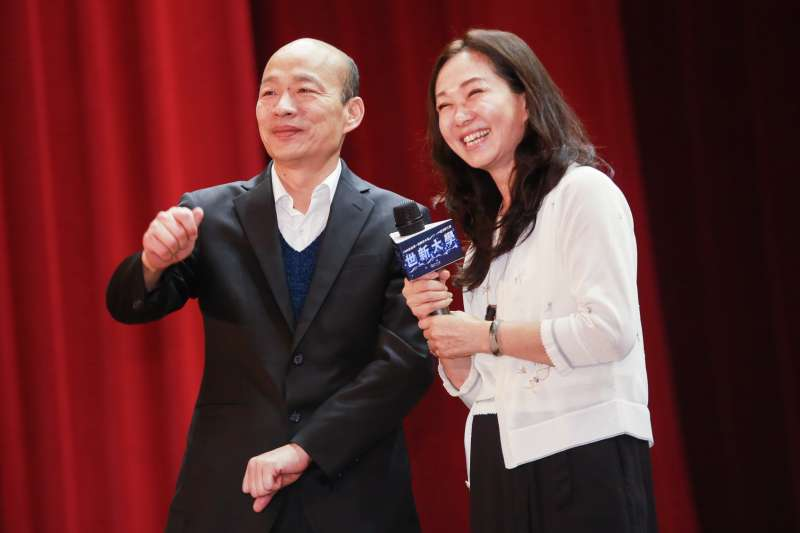 20190501-高雄市長韓國瑜1日與夫人李佳芬至世新大學演講。(簡必丞攝)