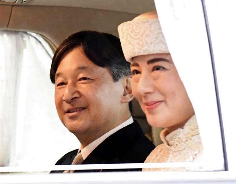 皇太子德仁親王與雅子妃。(美聯社)