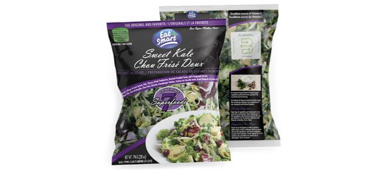 美國好市多販售的袋裝沙拉,賞味期限長達10天以上,台灣好市多也曾進口類似商品販售。(圖/食力foodNEXT提供)