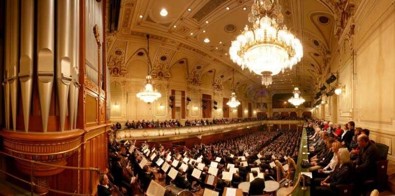 史代爾馬克州音樂協會(Musikverein für Steiermark)的主演奏廳 Stefaniensaal。(圖/楊佳恬提供)