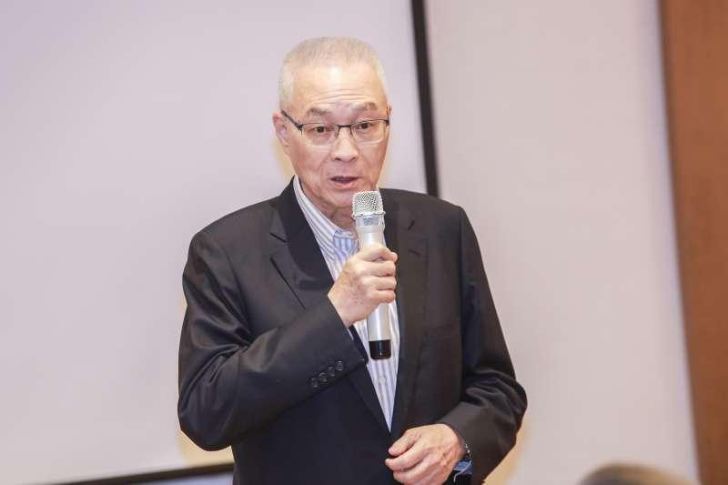 20190504-國民黨主席吳敦義出席五四運動一百周年紀念會。(簡必丞攝)
