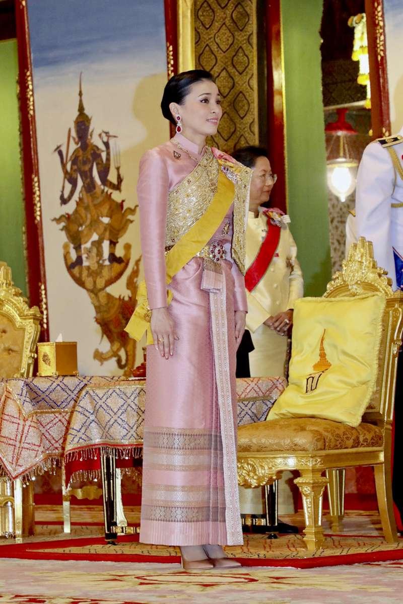2019年5月1日,泰國王后蘇蒂達。(AP)