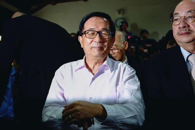 20190505-前總統陳水扁5日出席《堅持—陳水扁口述歷史回憶錄》新書發表會。(簡必丞攝)