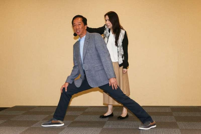 20190506-鴻海集團董事長郭台銘訪美回台後於6日舉行訪美心得記者會。(蔡親傑攝)