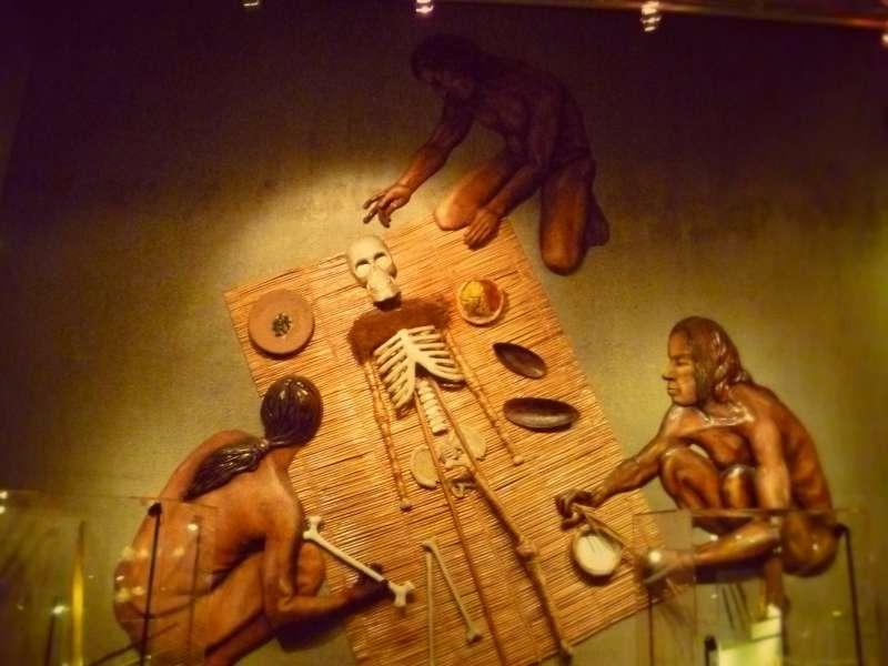 智利的阿薩巴聖米格爾考古博物館展示新克羅人製作木乃伊的過程(Andrea021@Wikipedia / CC BY-SA 3.0)
