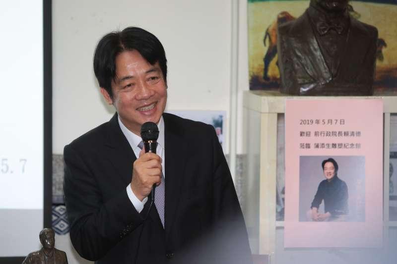 20190507-前行政院長賴清德7日參訪蒲添生雕塑紀念館。(顏麟宇攝)
