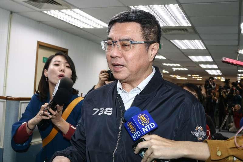 20190508-民進黨主席卓榮泰8日出席民進黨中常會。(蔡親傑攝)