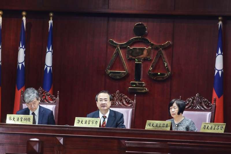 20190515-許宗力大法官15日出席公教年改釋憲案。(簡必丞攝)
